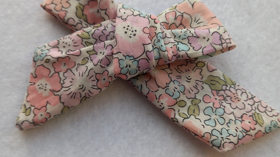 Liberty floral tie bow