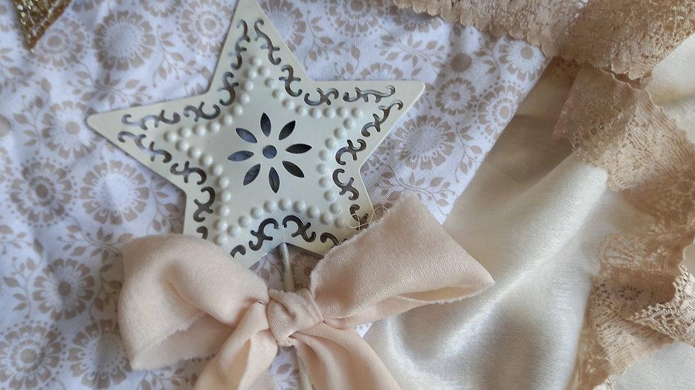 Ivory metal star wand