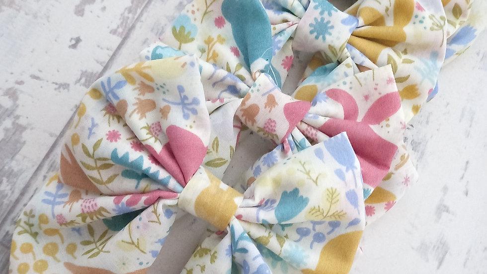 Easter bunny print bow