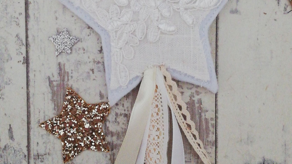 ivory lace detail fairy wand