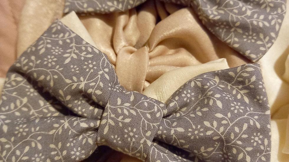 Grey and beige pattern midi
