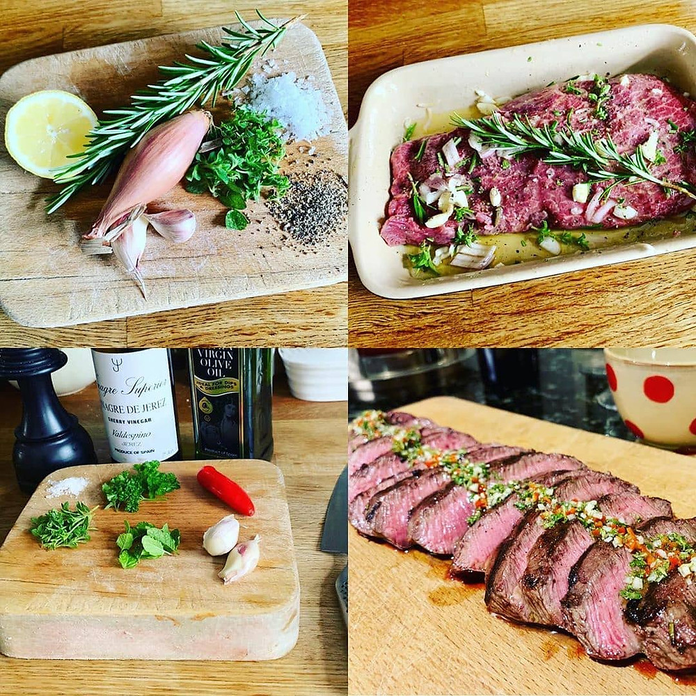 Blogger shows Rother Valley how to cook grass fed feather blade beef steak