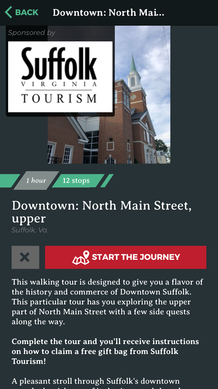 One of four tours of downtown Suffolk!