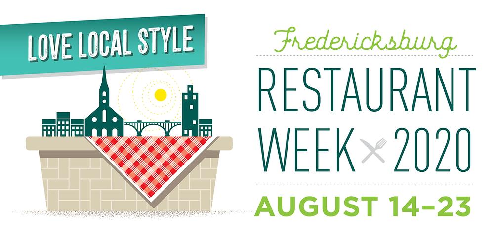 Restaurant Week in Fredericksburg, VA. August 14-23.