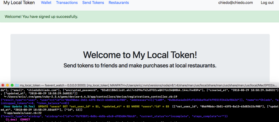 Proving Local Token