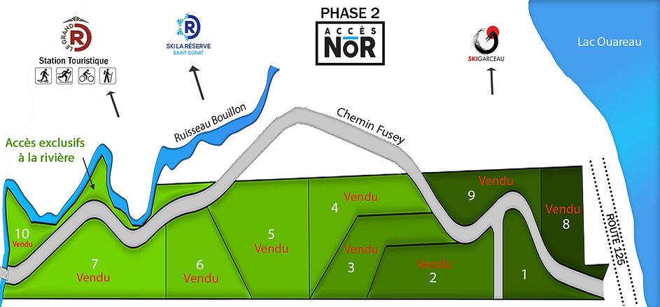 phase 2 acces nor (ajout terrains vendus