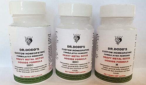 Heavy Metal Detox Nosode - 3 Bottle Set 600C, 800C, M