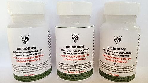 Dog Vaccinosis Detox Nosode Formula - 3 Bottle Set 12X, 30C, 60C