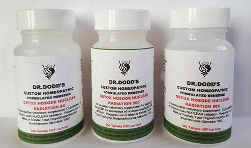 Detox Nosode Nuclear Radiation - 3 Bottle Set 6X, 30C, 60C