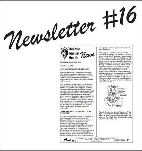 Newsletter 16 - Osteoarthritis and Hip Dysplasia