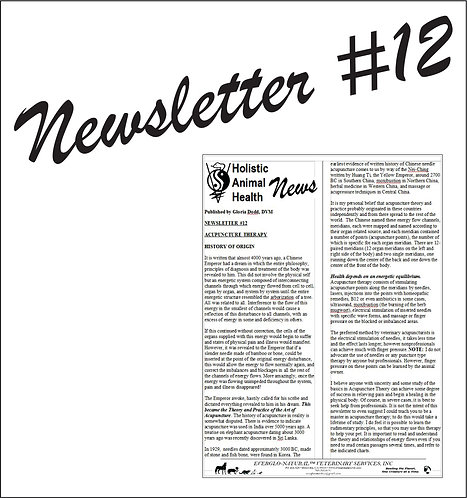 Newsletter 12 - Acupuncture Therapy