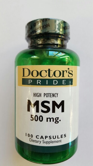 MSM - High Potency, 500mg capsules