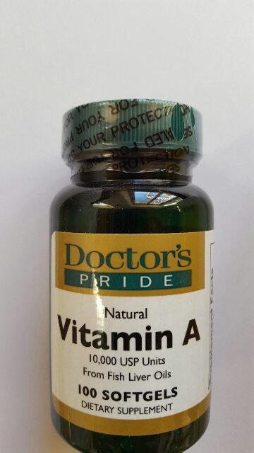 Vitamin A - 10,000 IU/capsule