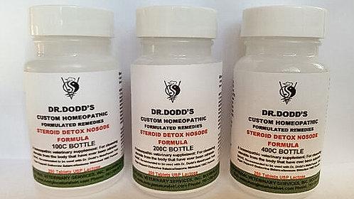 Steroid Detox Nosode Formula - 3 Bottle Set 100C, 200C, 400C