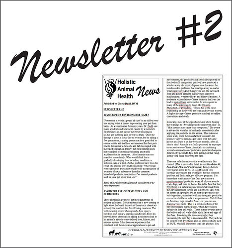 Newsletter 02 - Is Your Pet's Enviroment Safe?
