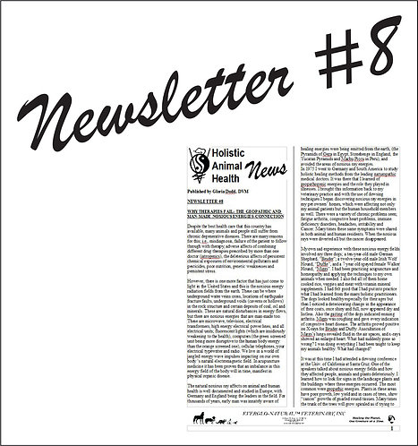 Newsletter 08 - Why Therapies Fail, The Geopathic and Man-Made Noxious E