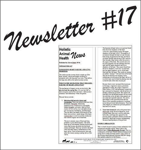 Newsletter 17 - Congestive Heart Failure and Lung Problems