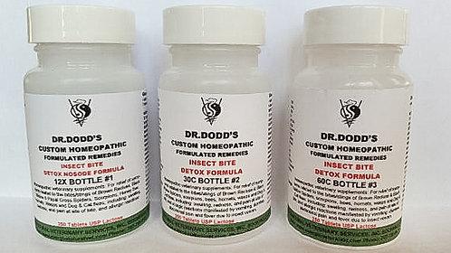 Insect Bite Detox Nosode Fomula-3 Bottle Set - 12X, 30C, 60C