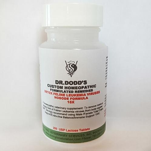 Detox Feline Leukemia Viruses (or FLV) Nosode Formula- 11 Bottle Set 15X-50M