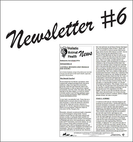 Newsletter 06 - A General Detoxification Program For Your Pet