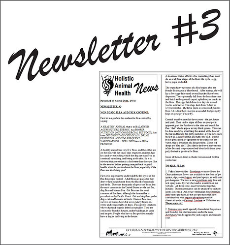 Newsletter 03 - Non-Toxic Flea and Tick Control