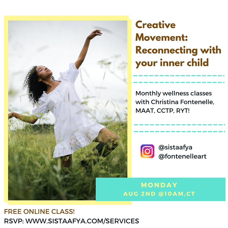 CREATIVE MOVEMENT: Reconnecting with your Inner Child