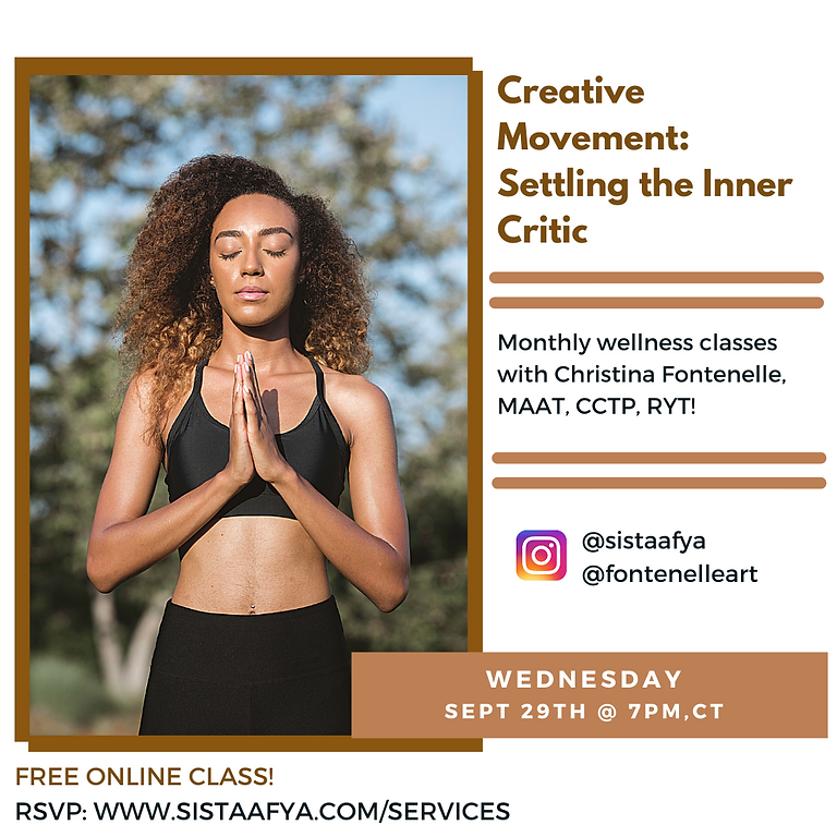 Creative Movement: Settling your Inner Critic