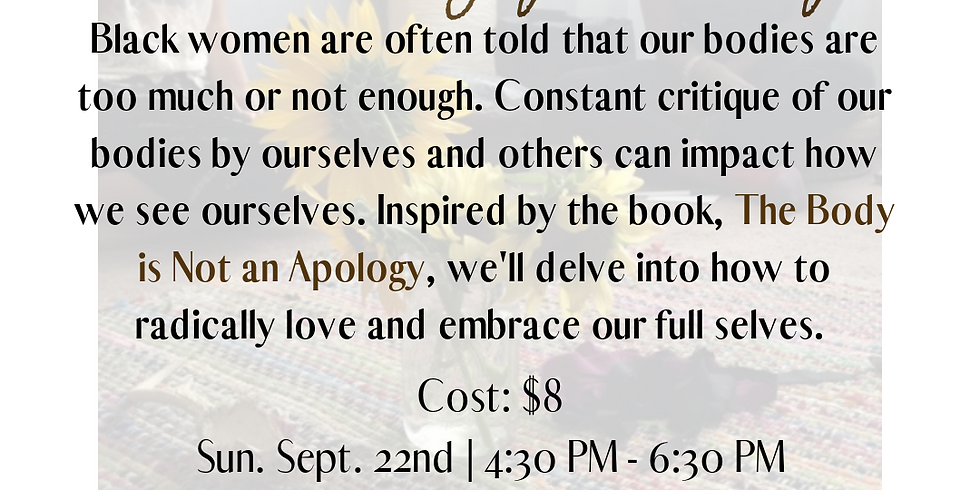 Sister Support Group: Embracing Your Body