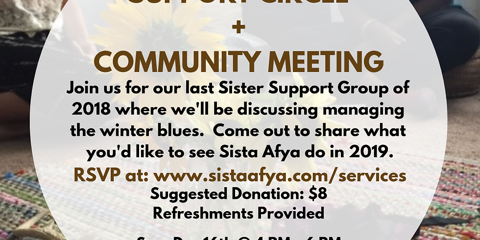 Support Circle and Community Meeting