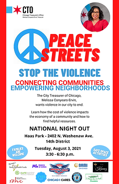 Peace Streets Stop The Violence (Learn the cost of violence ) Haas Park- 2402 N Washenaw Ave.