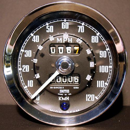 Tacho Glas mit km/h Skala