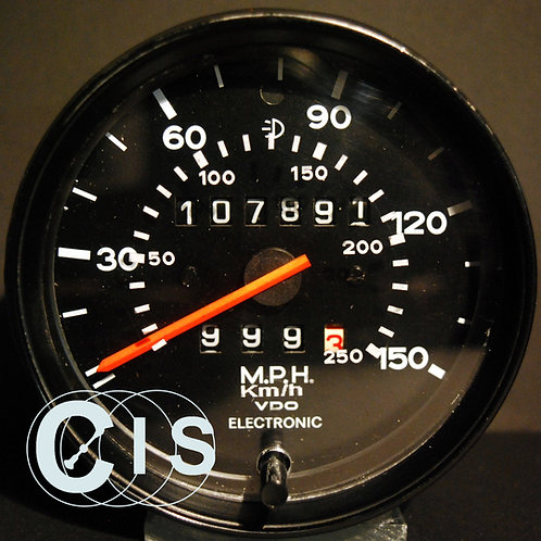 Tacho Glas mit km/h Skala für Porsche 911 elektronisch