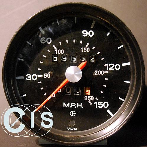 Tacho Glas mit km/h Skala für Porsche 911 mechanisch