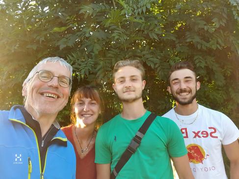 Johanna, Maxime et Alexandre