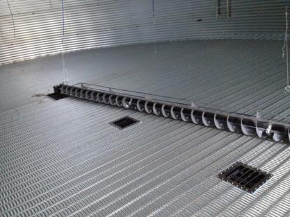 full floor aeration with bin sweep