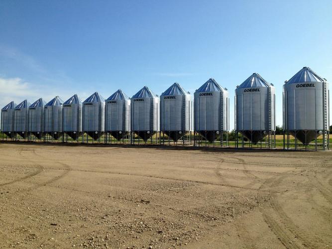 Goebel bins in a row
