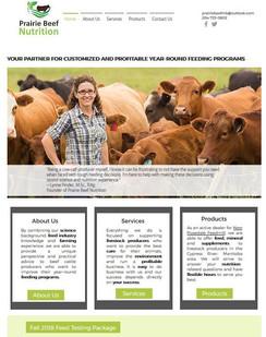Prairie Beef Nutrition website