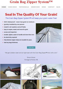 Grain Bag Zipper website