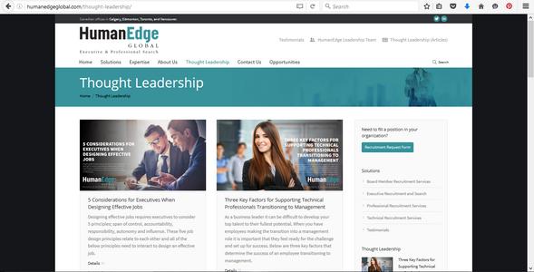 HumanEdge Global website