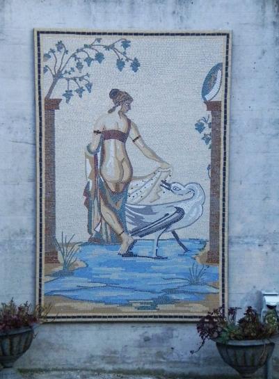 "Wandmosaik ""Leda mit d. Schwan"""