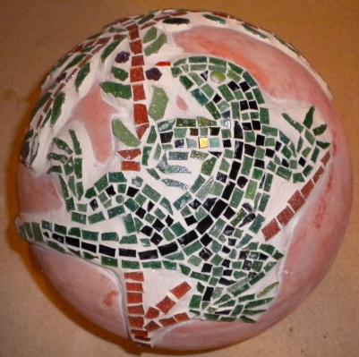"""Gartenkugel """"Eidechse"""", grün"""