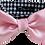 Thumbnail: Hundehemd Kragen Fliege Rosa/ Pepita