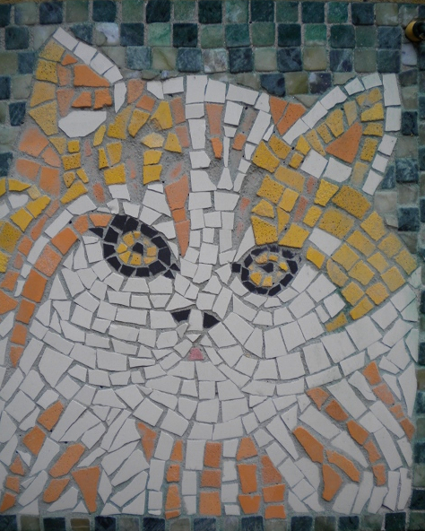 """Wandmosaik """"Katze"""""""