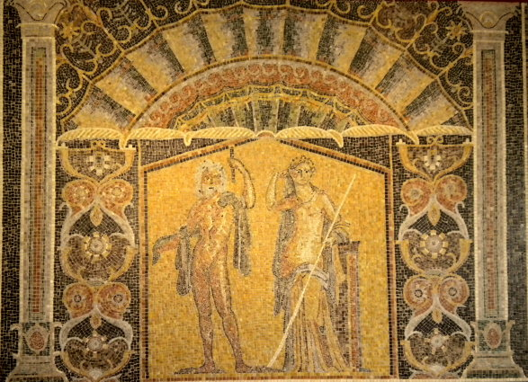 Wandmosaik aus Herculaneum