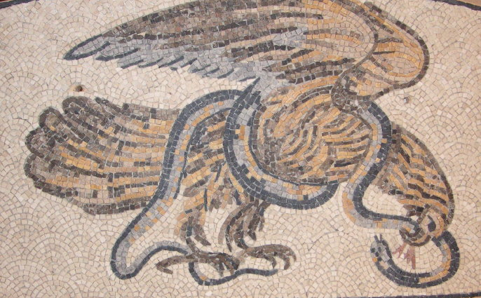 "Wandmosaik ""Adler"""