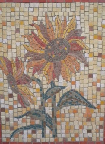 "Wandmosaik ""Sonnenblume"""