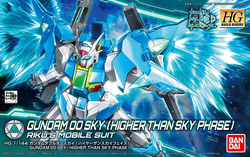 "Gundam 00 Sky (Higher Than Sky Phase) ""Gundam Build Divers"", Bandai HGBD 1/144"