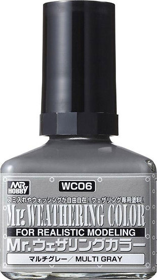 WC06 Multi Gray (Box/6), GSI, Mr. Weathering Color Paint