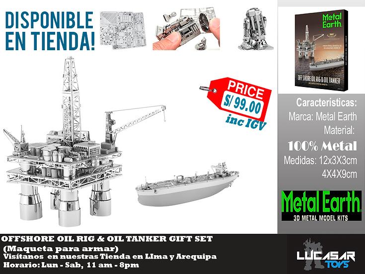 Offshore Oil Rig & Oil Tanker Metal Earth