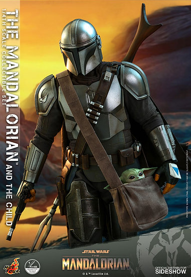 The Mandalorian and The Child Hot Toys The Mandalorian - Quarter Scale